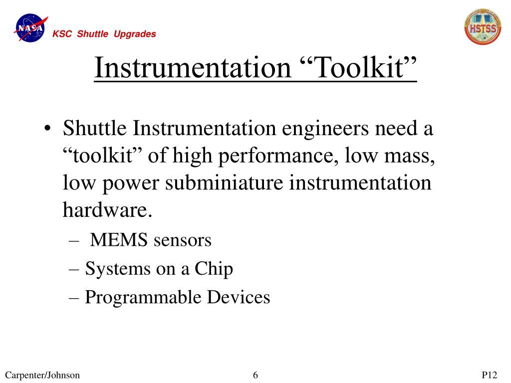 "Instrumentation ""Toolkit"""