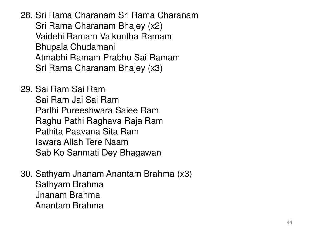 28. Sri Rama Charanam Sri Rama Charanam