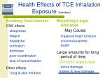 health effects of tce inhalation exposure handout
