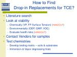how to find drop in replacements for tce