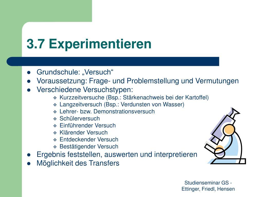 3.7 Experimentieren