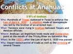 conflicts at anahuac