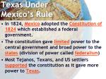 texas under mexico s rule