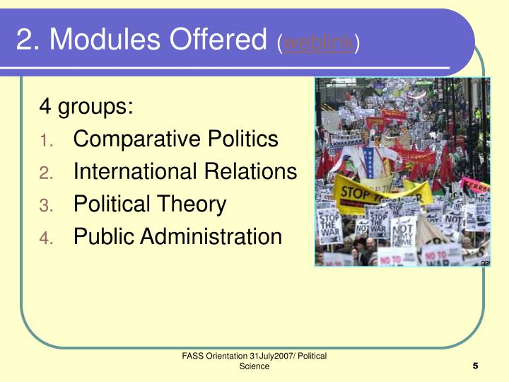2. Modules Offered