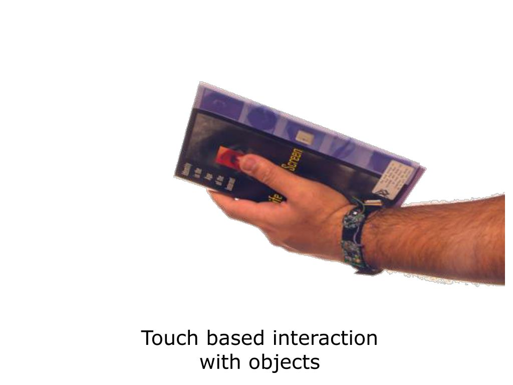 Touch based interaction