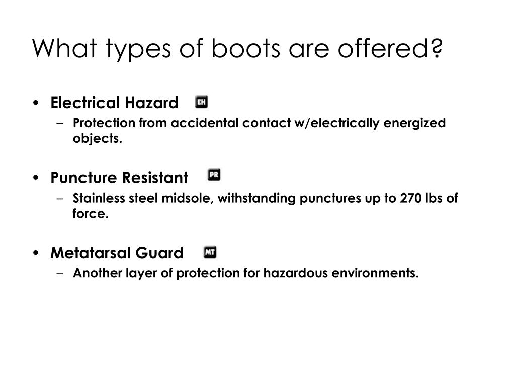 What types of boots are offered?