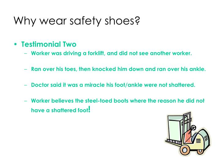 Why wear safety shoes3