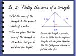ex 3 finding the area of a triangle