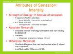 attributes of sensation intensity9