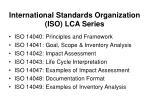 international standards organization iso lca series
