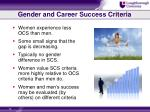 gender and career success criteria