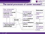 the social processes of career success