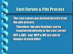 cost curves pdn process