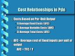 cost relationships in pdn11