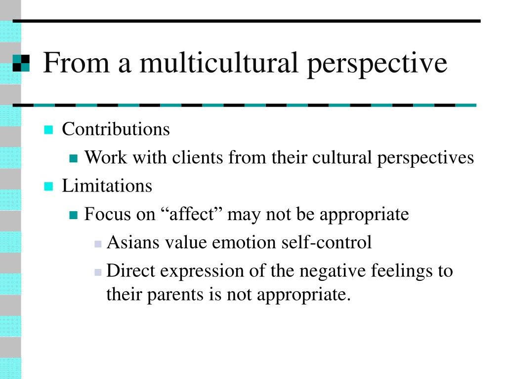 gestalt therapy in working with culturally diverse populations Chapter 8 counseling the multiracial population 105 kelley r kenney and mark e kenney  diverse client groups in a variety of settings it provides practicing counselors and those  working alliance in a cross-cultural counseling encounter.