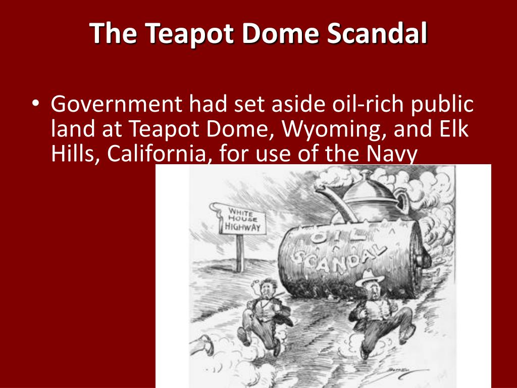 tea pot dome scandel Find out more about the history of teapot dome scandal, including videos,  interesting articles, pictures, historical features and more get all the facts on.