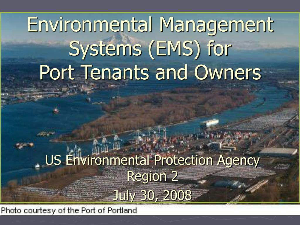 Environmental Management Systems (EMS) for