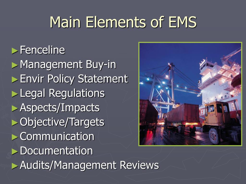 Main Elements of EMS