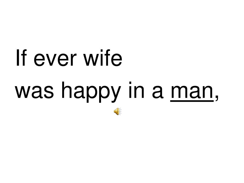 If ever wife