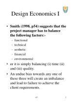 design economics i2