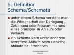 6 definition schema schemata