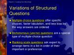 variations of structured questions