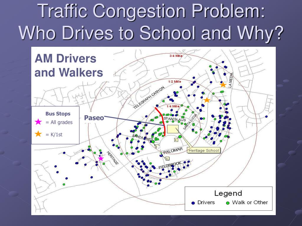 Traffic Congestion Problem:            Who Drives to School and Why?