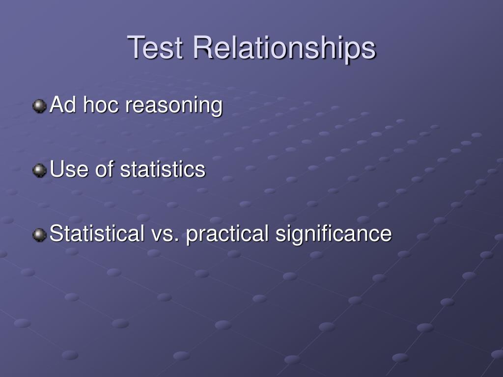 Test Relationships