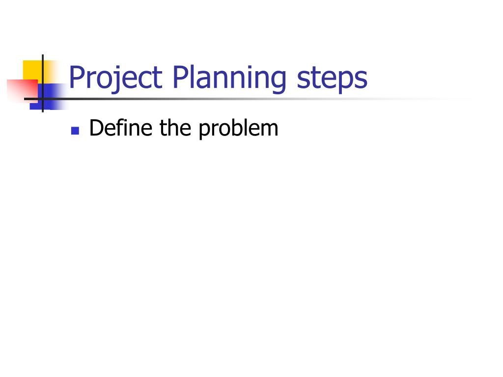 Project Planning steps