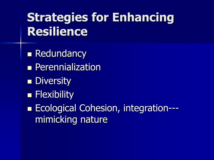 Strategies for Enhancing Resilience