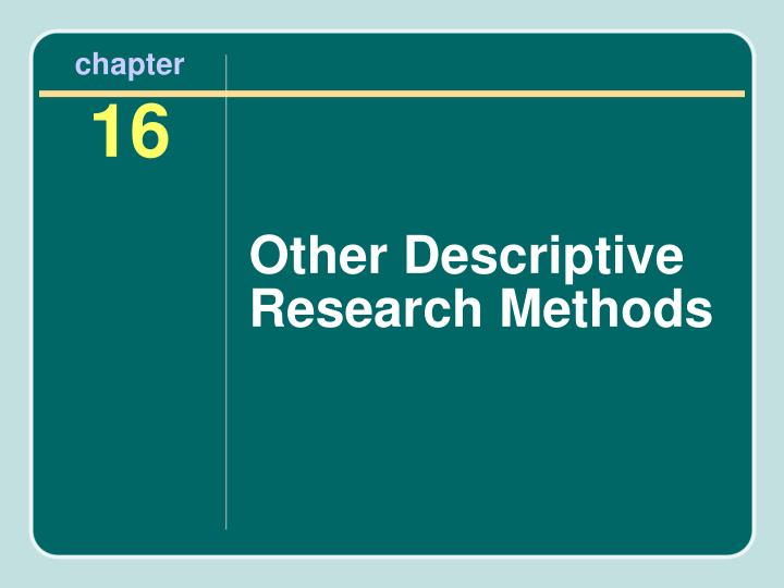 chapter 1 of research Chapter 1 basic concepts of research in economics in the first section 13 scientific method scientific vs non-scientific methods of gaining knowledge.
