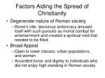 factors aiding the spread of christianity47