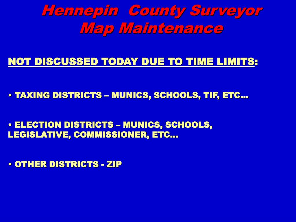 Hennepin  County Surveyor