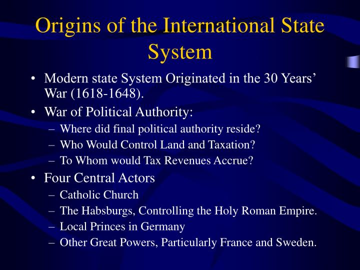 Origins of the International State System
