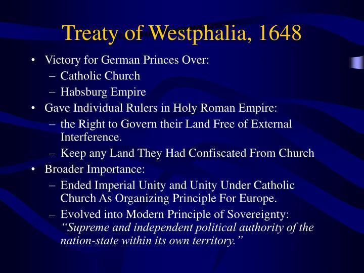 Treaty of Westphalia, 1648
