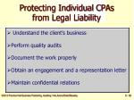 protecting individual cpas from legal liability38