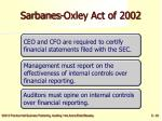 sarbanes oxley act of 2002