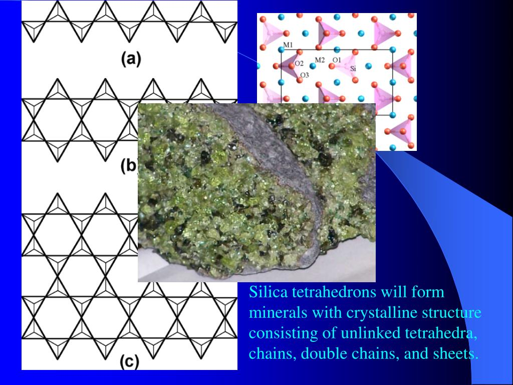 Silica tetrahedrons will form