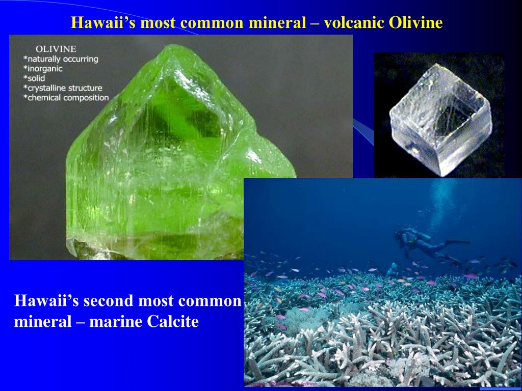 Hawaii's most common mineral – volcanic Olivine