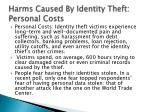 harms caused by identity theft personal costs