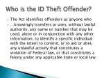who is the id theft offender