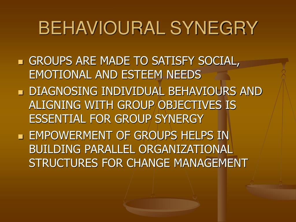 BEHAVIOURAL SYNEGRY
