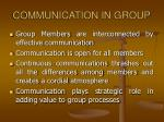 communication in group
