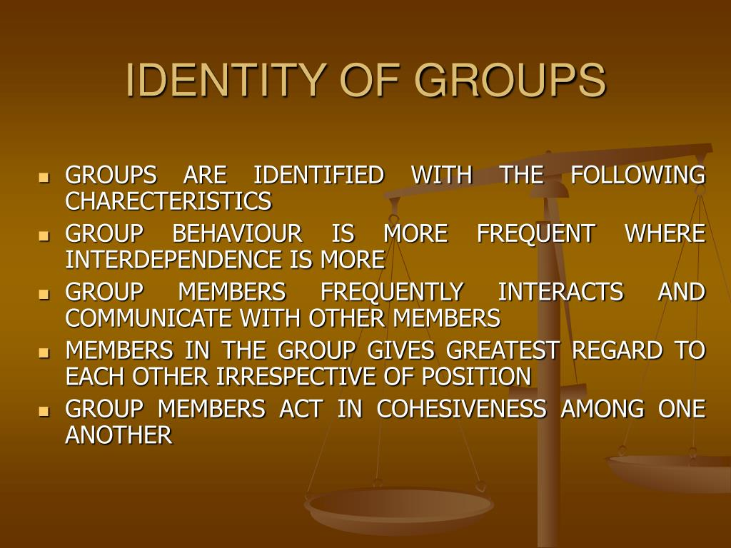 IDENTITY OF GROUPS