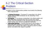 6 2 the critical section problem