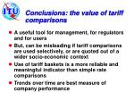 conclusions the value of tariff comparisons