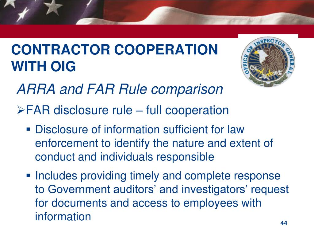 CONTRACTOR COOPERATION
