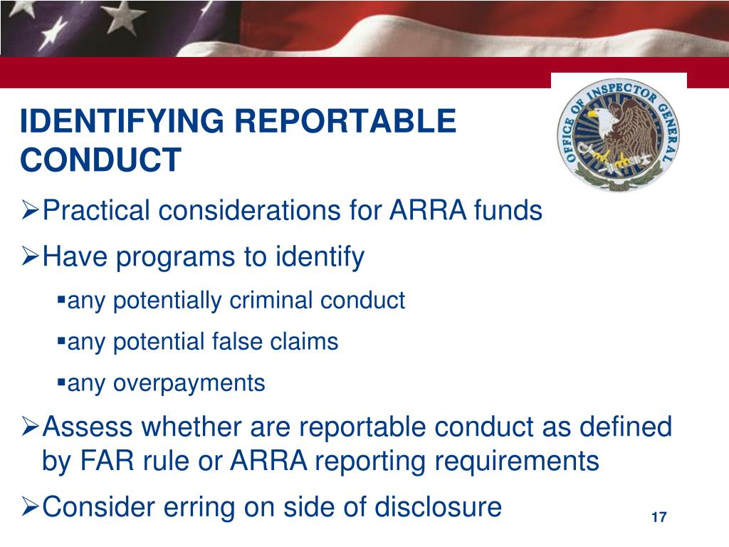 IDENTIFYING REPORTABLE CONDUCT