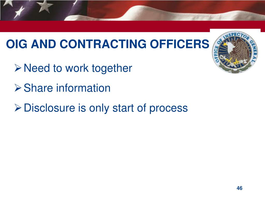 OIG AND CONTRACTING OFFICERS