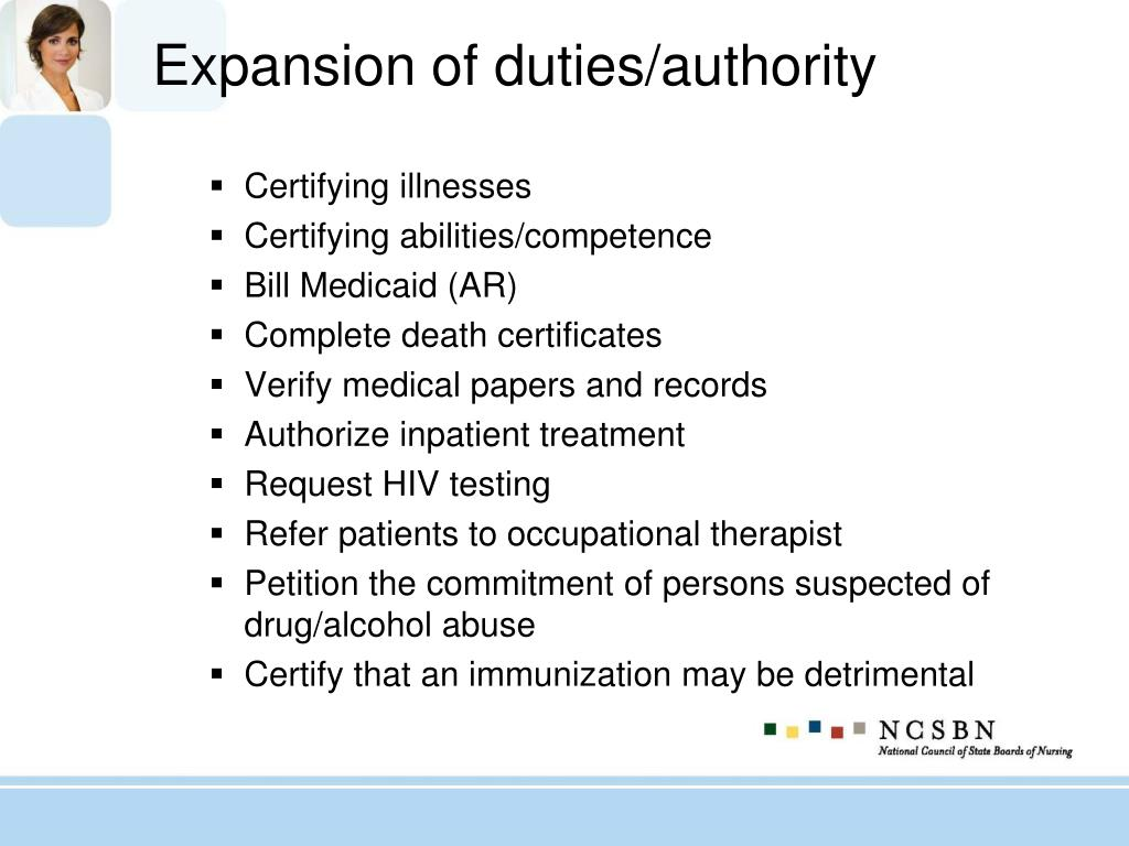 Expansion of duties/authority